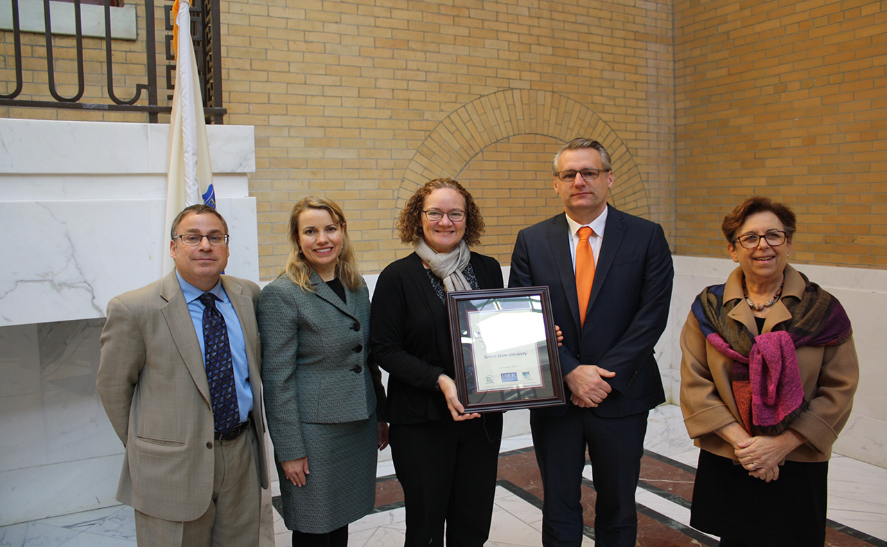 Salem State University was named a recipient of the 2018 Leading by Example Award by the Baker-Polito Administration