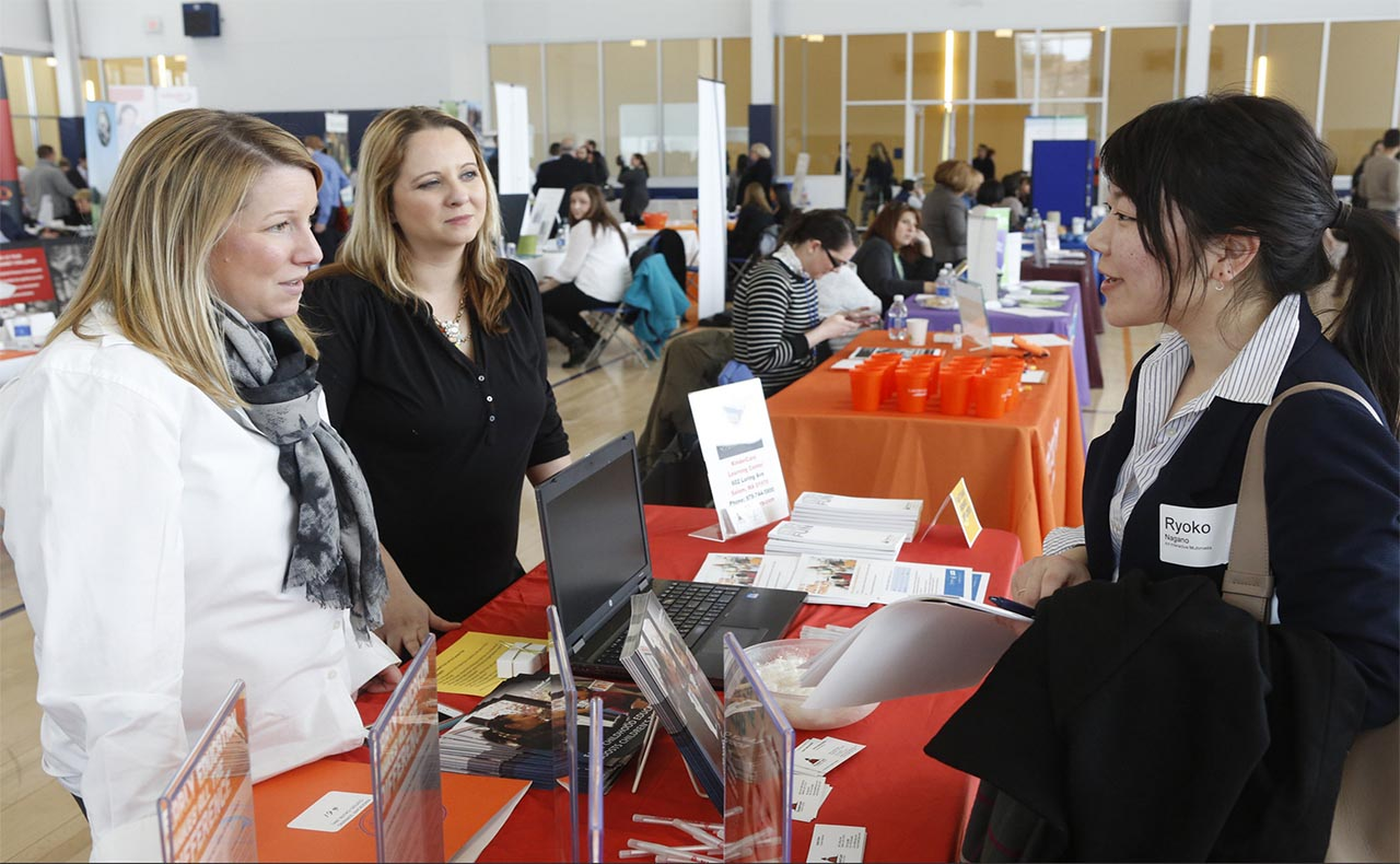 Salem State's Annual Career Fair Attendees.