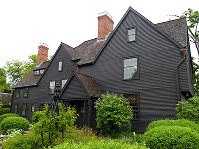The House of the Seven Gables, a house made famous by Nathaniel Hawthorne's novel