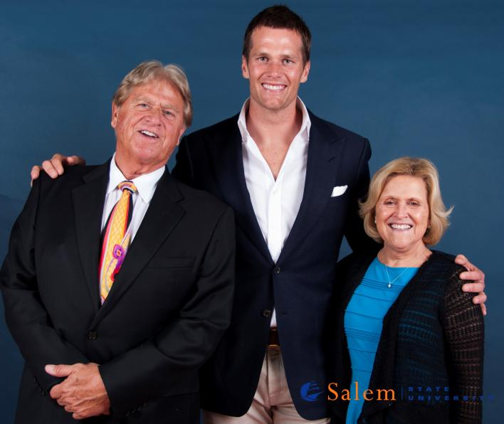 Dennis and Jackie Drinkwater with Tom Brady