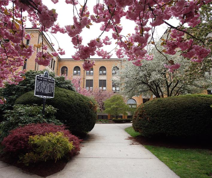 Front of Sullivan Building in Spring