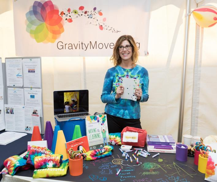 Gravity Moves Exhibition table