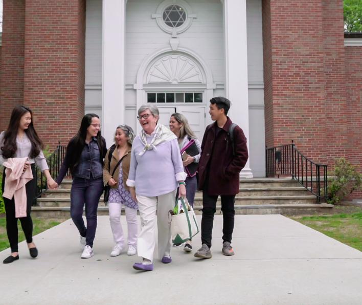 Group walks on Salem State campus
