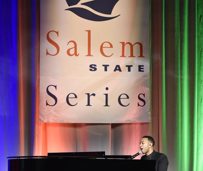 John Legend with Series backdrop