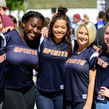 Student group at the Salem State student involvement fair