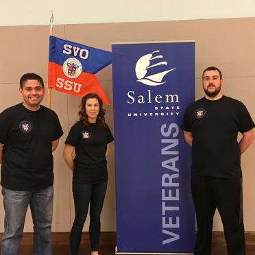 Student Veteran Organization leadership group photo