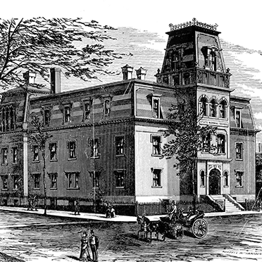 Pencil rendering of Broad Street