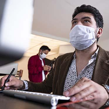 Students wearing masks during COVID-19 pandemic