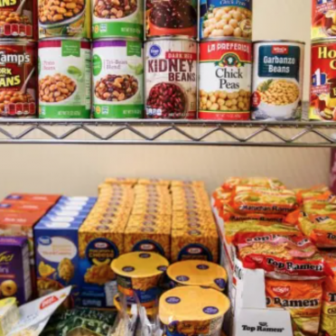 Food pantry canned and boxed items