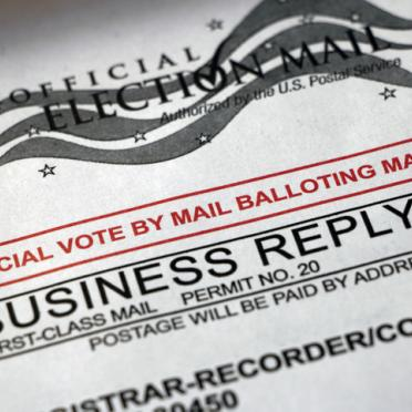 Voting by mail envelope