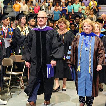 President Keenan during last year's commencement processional