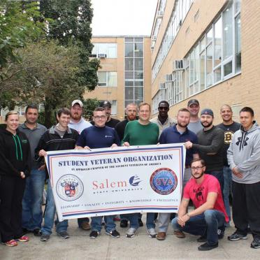 A group of student veterans