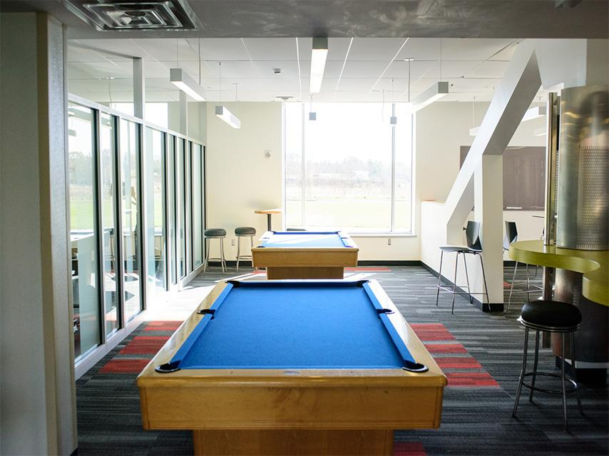Atlantic Hall pool table.