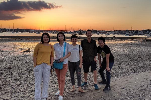 Students from China hanging out at Salem Willows Beach