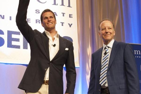 Tom Brady with Jim Gray