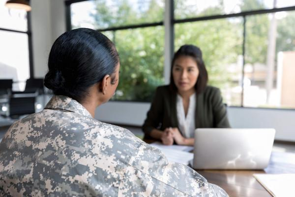 Veteran working with a benefits coordinator