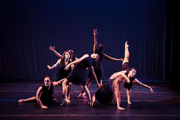 Salem State dancers perform on stage